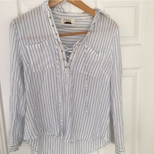 cage Tops - Striped Long Sleeve